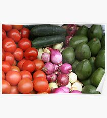 Vegetables at the Otavalo Market Poster