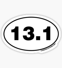 13.1 Miles Oval Sticker Sticker