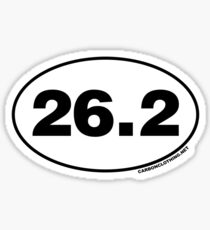 26.2 Miles Oval Sticker Sticker
