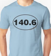 140.6 Miles Oval Sticker Unisex T-Shirt