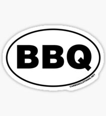 BBQ Oval Sticker Sticker