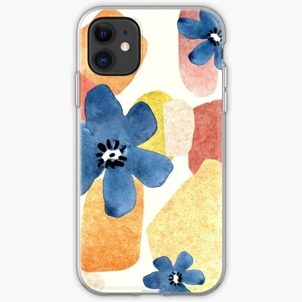 Abstract Flowers iPhone Soft Case