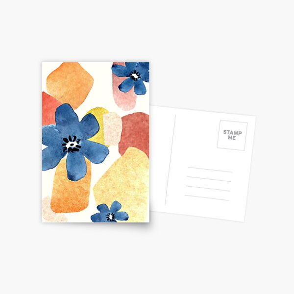 Abstract Flowers Postcard
