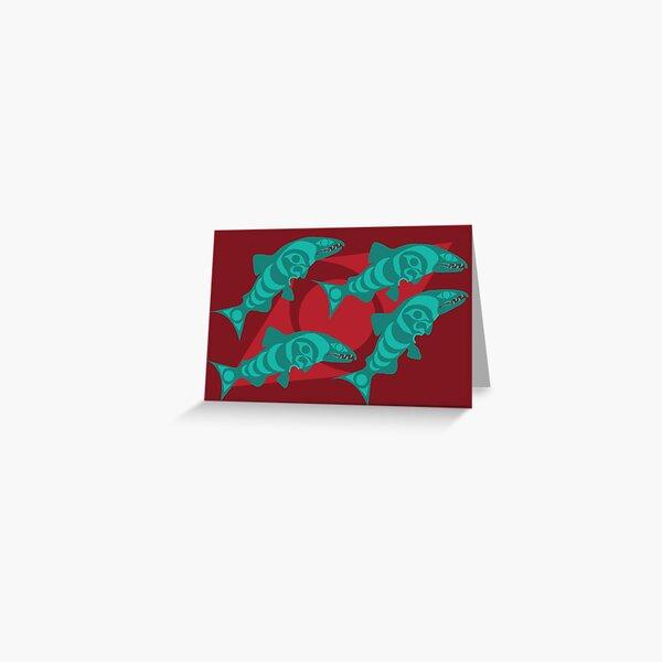 Dog Salmon  Greeting Card
