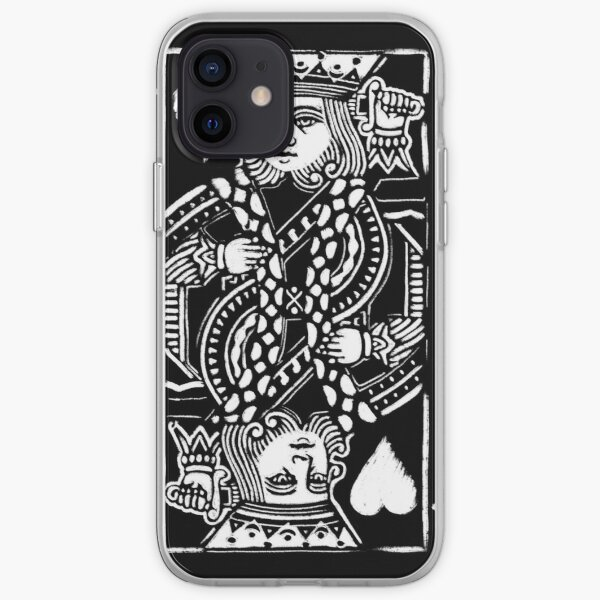 King of Hearts Painted Playing Card iPhone Soft Case