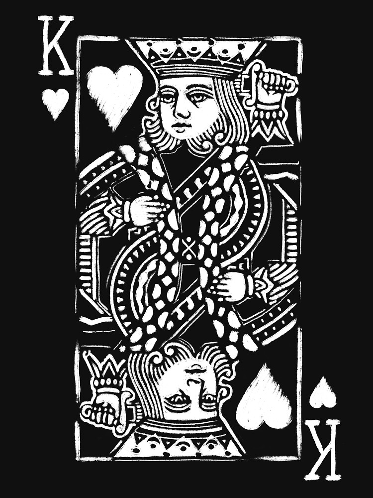 King of Hearts Painted Playing Card by fullrangepoker