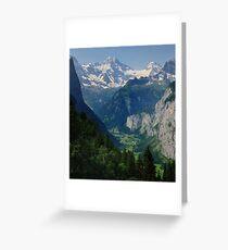 Breithorn & Tschinglehorn Grußkarte