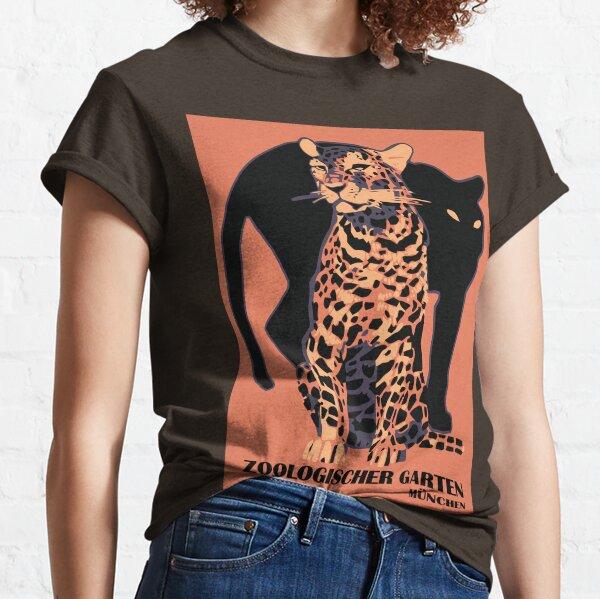 inspirado en un cartel publicitario de 1912 para el zoológico de Munich (Alemania) Camiseta clásica