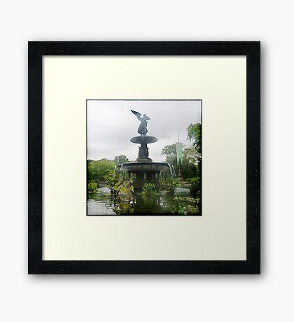 Central Park Angel Framed Print