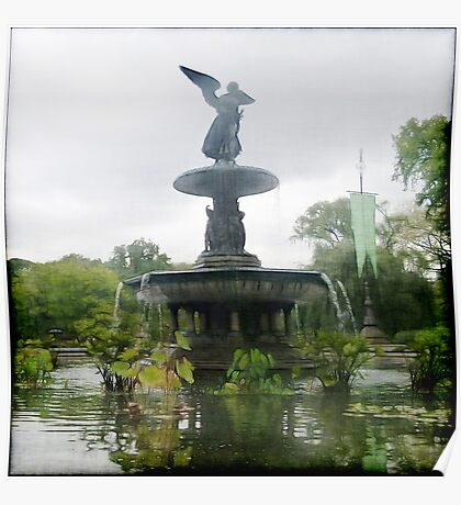 Central Park Angel Poster