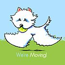 We're Moving Westie New Address Announcement by offleashart