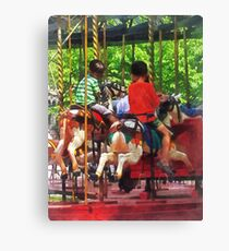 Carnivals - Friends on the Merry-Go-Round Canvas Print