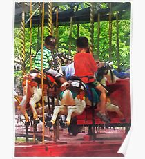 Carnivals - Friends on the Merry-Go-Round Poster
