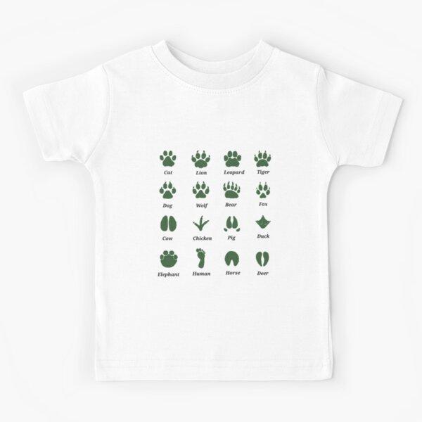 Animal Footprints Tracks Identification Guide  Kids T-Shirt