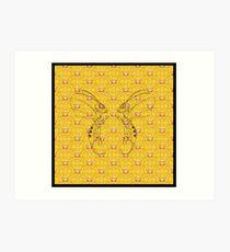 Duo Cloud Bee Honey Pot Art Print