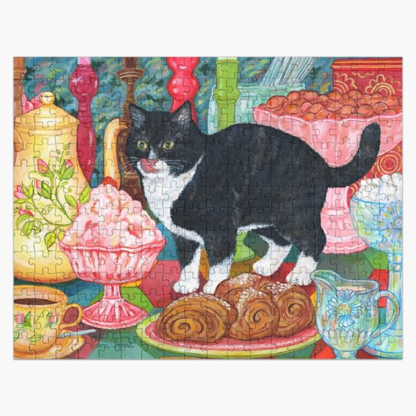 Tea for Two (for a Cat and You) Jigsaw Puzzle