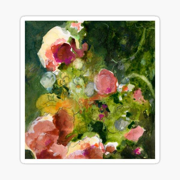 Pink & Sienna Flowers Sticker