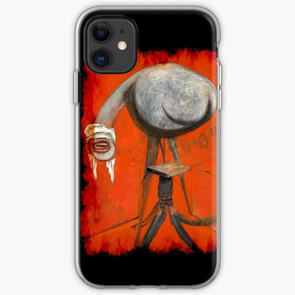 Figure at base of crucifixion Francis Bacon painting art lover artist gift t shirt or mask iPhone Soft Case