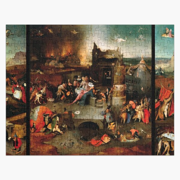 Triptych of the Temptation of St. Anthony by Hieronymus Bosch Jigsaw Puzzle
