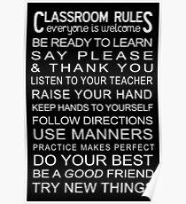 Póster Póster de las reglas del aula