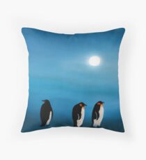 Pick-up-a-Penguin! Throw Pillow