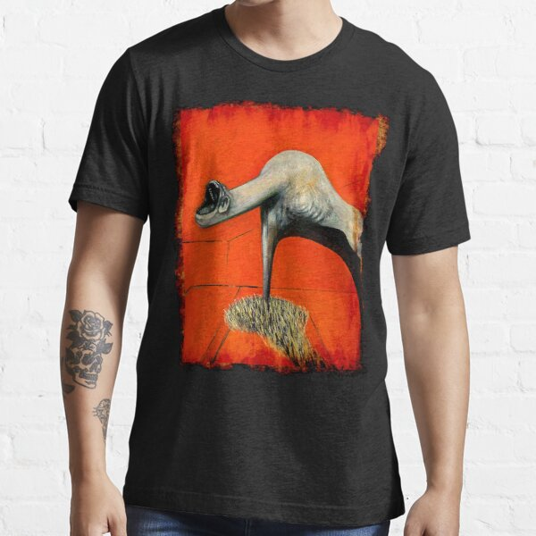 Figure at base of crucifixion Francis Bacon painting art lover artist gift t shirt or mask Essential T-Shirt