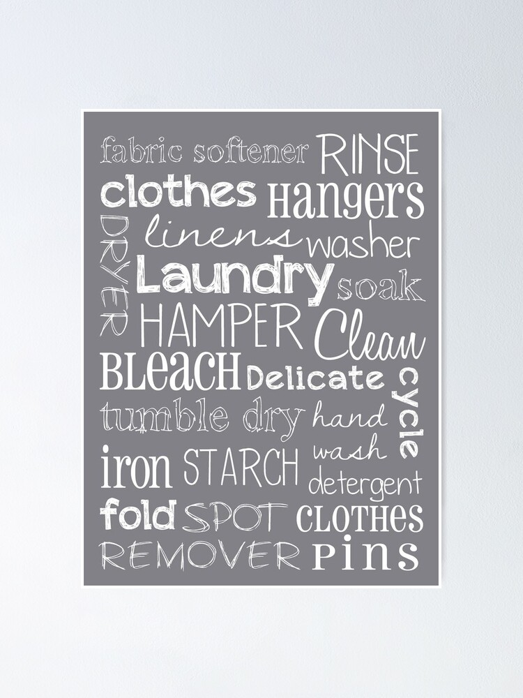 Laundry Room Poster Poster By Friedmangallery Redbubble