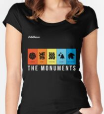 VeloVoices Monuments T-Shirt Women's Fitted Scoop T-Shirt