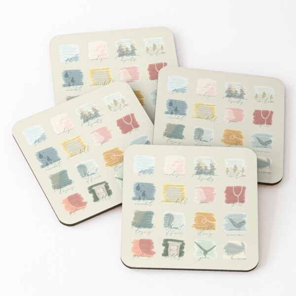 folklore Coasters (Set of 4)