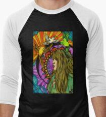 Three Birds of Rhiannon Men's Baseball ¾ T-Shirt