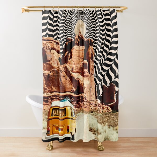 Illusionary Road Trip Shower Curtain