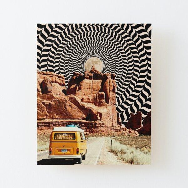 Illusionary Road Trip Wood Mounted Print