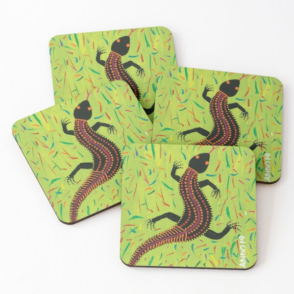 Goanna In The Grass Coasters (Set of 4)