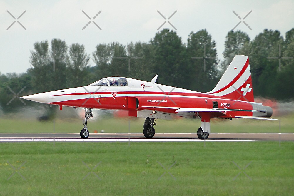 Patrouille Suisse Tiger II by Barrie Woodward