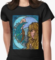 Turquoise Moon Women's Fitted T-Shirt