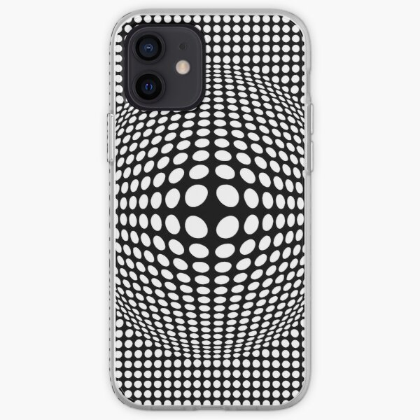Black And White Victor Vasarely Style Optical Illusion iPhone Soft Case