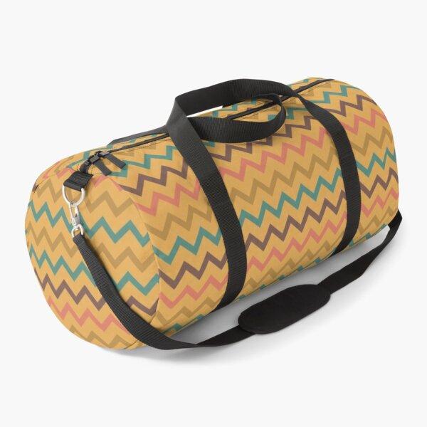 Zigzag  Chevron pattern Geometric Orange pink   Duffle Bag