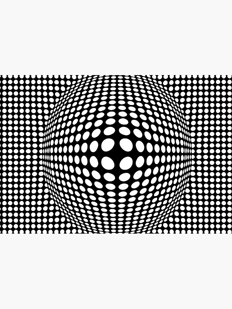 Black And White Victor Vasarely Style Optical Illusion by artsandsoul