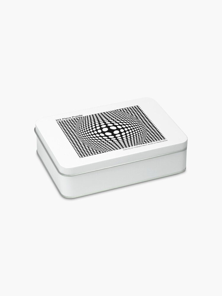 Alternate view of Black And White Victor Vasarely Style Optical Illusion Jigsaw Puzzle