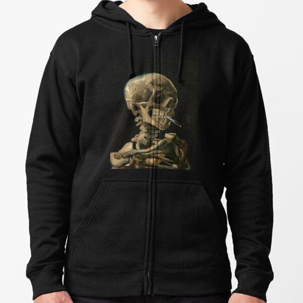 Van Gogh - Head of a Skeleton Zipped Hoodie