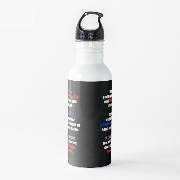 Support Good Cops, Resist Police Brutality Water Bottle