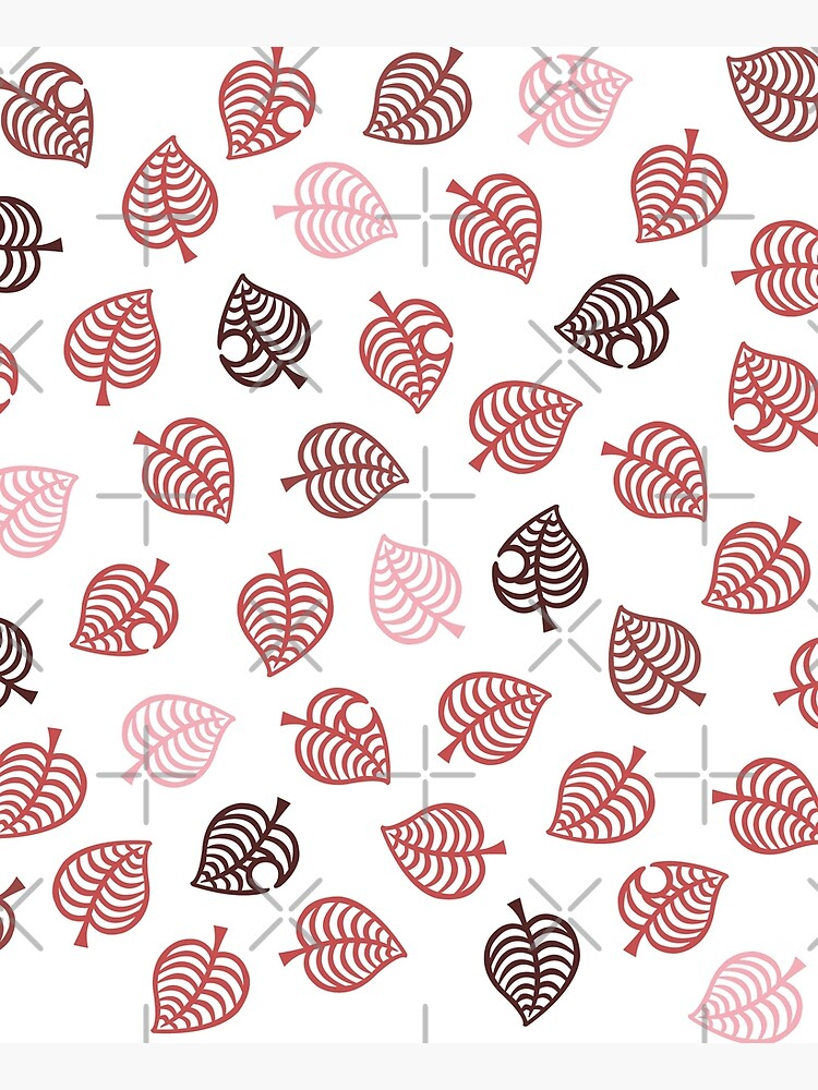 Nook Leaf Aloha Logo - Red and Pink on White by TheMajesticGoat