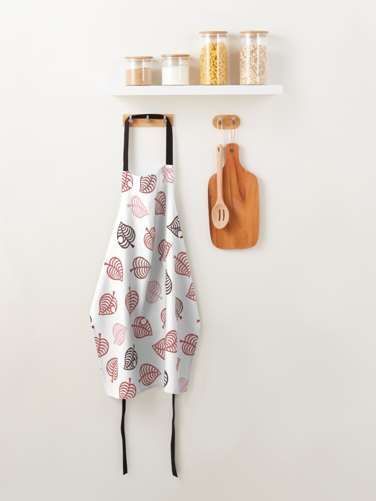 Alternate view of Nook Leaf Aloha Logo - Red and Pink on White Apron