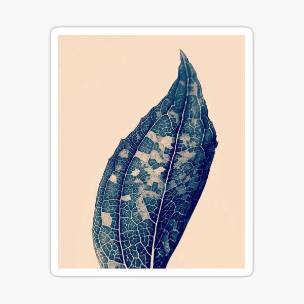 The Shades of Night vintage leaf Sticker