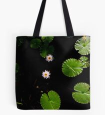 Water Lillies on Dark Water Tote Bag
