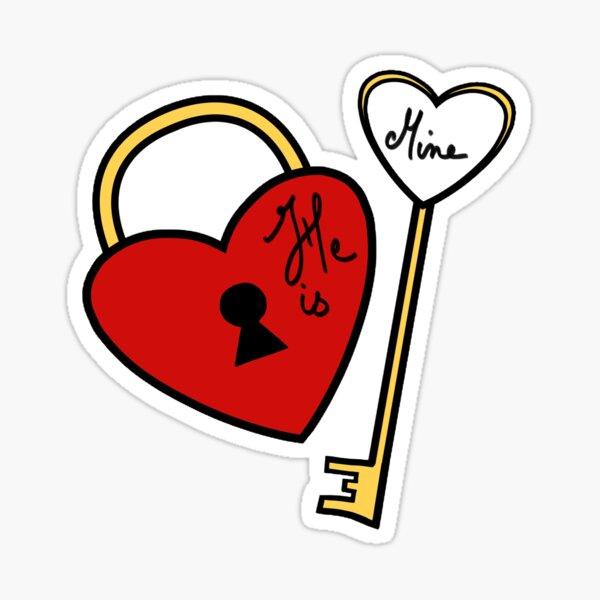 He is Mine  Sticker