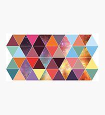 Geometric Nebula Array Photographic Print