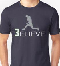 Russell Wilson Believe (3elieve) Gray Jump Pass T-shirt T-Shirt