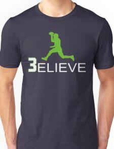 Russell Wilson Believe (3elieve) Green Jump Pass T-shirt Unisex T-Shirt