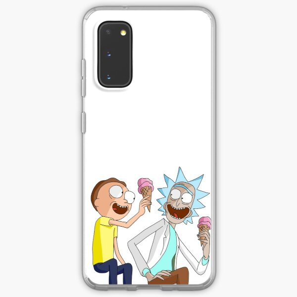 Rick and Morty Eating Icecream Samsung Galaxy Soft Case
